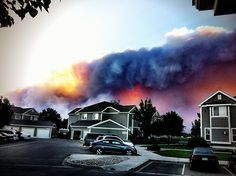 I just can't imagine going about your day with this in the background. (High Park Fire, Fort Collins, CO)
