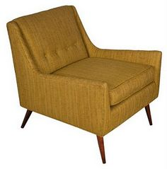 Mid-century chair in mustard.