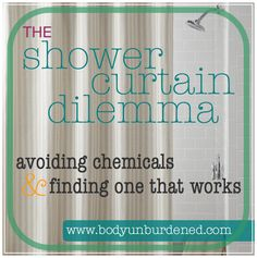 Time to ditch that PVC shower curtain and pick up a healthier alternative! #home #health