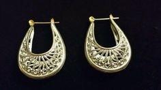 Vintage  filigree loop earrings pierced silver #dangle Retro Costume, Filigree, Vintage Antiques, Antique Jewelry, Crochet Earrings, Pierced Earrings, Dangles, Best Deals, Silver