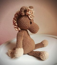 Doudou poney au crochet cheval, cuddly toy horse, amigurumi  : Jeux, jouets par filiz-the-cat