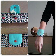 Make A Wearable Wrist Wallet Card Holder with KAM Snap Buttons (Tutorial) . - Make A Wearable Wrist Wallet Card Holder with KAM Snap Buttons (Tutorial) - Easy Sewing Projects, Sewing Hacks, Sewing Tutorials, Sewing Crafts, Sewing Patterns, Sewing Tips, Tape Crafts, Wallet Sewing Pattern, Sew Wallet