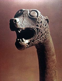 Viking ship's dragon head. Northumbria, circa 900 AD?