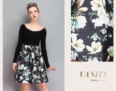 European Style Floral Pattern Skirt