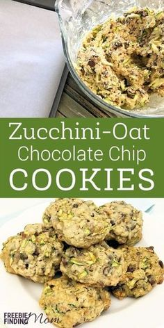 Cookies Recipe: Homemade Zucchini-Oat Chocolate Chip Cookies Need an easy and delicious way to sneak vegetables into your picky eater's diet? Put your summer zucchini to good use and whip up a batch of these yummy zucchini-oat chocolate chip cookies. Clean Eating Snacks, Healthy Snacks, Healthy Eating, Healthy Recipes, Zucchini Cookie Recipes, Recipe Zucchini, Healthy Zucchini Cookies, Zucchini Oatmeal Cookies, Gastronomia