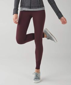 79c32a1bafd1d NWT Lululemon Yoga Tight Size 2 Brand new with tag! Zone in tight in  wineberry. Lightweight four way stretch fabric. No dig waistband.