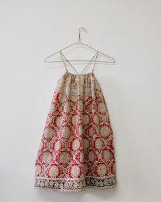 wolfechild dress/vintage batik