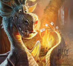 Digital Artist Magazine - Silly Beast Illustration