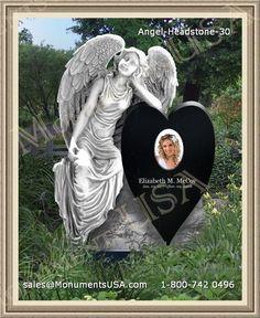 Angel-Headstone-30 | Angel Memorial Granite | Headstone Monuments Angel