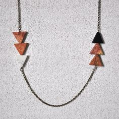 Triangle Necklace by littleobywolfbrother on Etsy, $36.00