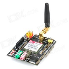 GSM / GPRS Shield Wireless Extension Board Module w/ Antenna / Adapter for Arduino. Model SHD-EFCOM Quantity 1 Color Black Material FR4 Features Arduino Compatible GSM / GPRS Shield Application for Arduino experiment and DIY projects Other Fully compatible with Freaduino/Arduino and Mega 2560, Quad-Band 850/ 900/ 1800/ 1900 MHz, voltage: 5V, Size: 68.33 x 53.09mm Packing List 1 x GSM / GPRS Shield 1 x Quad-Band wireless antenna 1 x 100~240V Power adapter ( 100cm-cable / US plug). Tags…