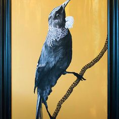 Original painting SOLD, acrylic and flashe on canvas 1630 x (including frame), the story of the artwork >> Print sizes and editions (limited to Extra large canvas - 1262 Artwork Prints, Fine Art Prints, Canvas Prints, Tui Bird, Nz Art, Pet Birds, Original Paintings, Museum, Artist