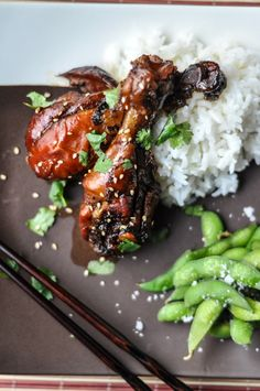 Slow Cooker Sticky Chicken Drumsticks - Farmgirl Gourmet Baked one hour instead of slow cooking Slow Cooker Recipes, Crockpot Recipes, Cooking Recipes, Healthy Recipes, Yummy Recipes, Cooking Ideas, Food Ideas, Chicken Drumsticks Slow Cooker, Slow Cooker Chicken