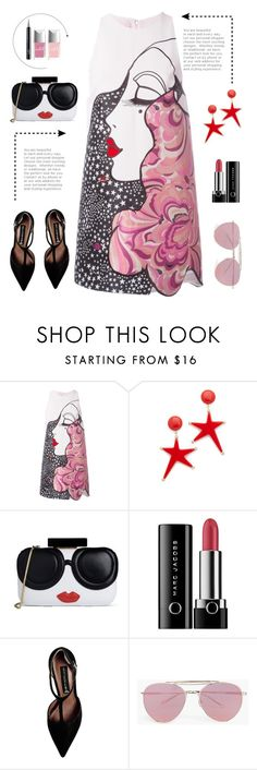"""""""Look 2 ( 04 / 24 / 2016 )"""" by aneetaalex ❤ liked on Polyvore featuring Giamba, Marni, Alice + Olivia, Marc Jacobs, Steve Madden, Boohoo and Christian Dior"""