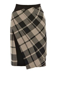 🌷Karen Millen Skirt🌷 The texture mix of this skirt is wonderful, with contrasting insert that give the iconic pencil skirt a modern twist. Tartan Fashion, Look Fashion, Skirt Fashion, Womens Fashion, Fashion Design, Fashion Outfits, Karen Millen, Tartan Mode, Moda Chic