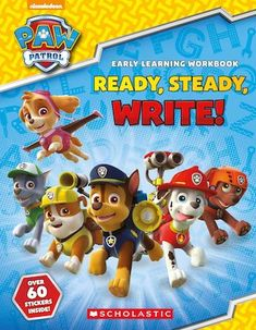 It's time for an awesome alphabet adventure! Join Chase, Marshall, Rubble and the whole PAW Patrol team as they help children practise writing upper and lower case letters. Home Learning, Early Learning, Writing Practice, Lower Case Letters, Lowercase A, Paw Patrol, Great Books, Children, Alphabet