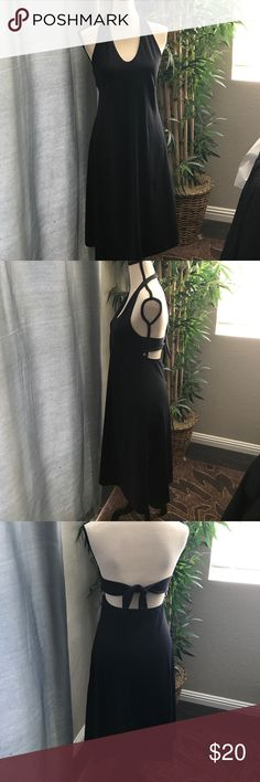 Pantongia halter dress large Pantagonia black dress, pass the knee, large . No damage preowned Pantagonia Dresses Maxi