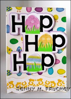 Easter, pop up, die cut, silhouette, cricut, paper, card, Karen Burniston, Sizzix, tags, egg, bunny, hop, decorative edges