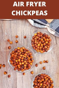 Air Fryer Chickpeas are a quick and easy snack that are packed with protein and nutrients. They make a great on-the-go snack without all the guilt or a topping on salads or over a rice bowl.// acedarspoon.com #airfryer #chickpeas #vegan #sidedish #snack Nutritious Snacks, Protein Snacks, Easy Snacks, Healthy Snacks, Chicken Finger Recipes, Dog Food Recipes, Snack Recipes, Easy Appetizer Recipes, Appetizers