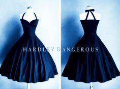 Midnight NAVY Blue Bridesmaid Halter Dress Fit by MoonbootStudios - Modern Grey Blue Bridesmaid Dresses, Grad Dresses, Navy Blue Dresses, Formal Dresses, Braided Hairstyles Tutorials, Blue Makeup, The Dress, Fancy Dress, Swing Dress