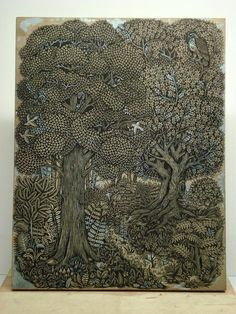 woodblock print by Tugboat Printshop -  artists Paul Roden and Valerie Lueth.