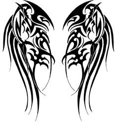 Google Image Result for http://fc09.deviantart.net/fs47/f/2009/236/4/a/Tribal_Wings_by_Velveteeniris.jpg
