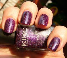 NOTD: Kiko 255 Viola Microglitter - Microglitter Purple