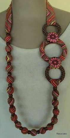 If you've ever considered making your own jewelry, you can learn all you can on this beautiful art by buying jewelry making books. Scarf Jewelry, Textile Jewelry, Fabric Jewelry, Jewelry Crafts, Jewelry Art, Beaded Jewelry, Handmade Jewelry, Jewelry Ideas, Fashion Jewelry