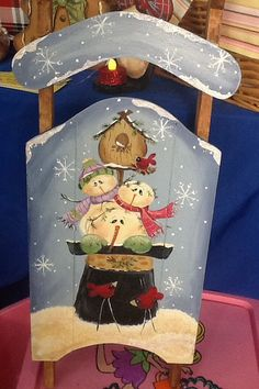 Winter snow friends sled by Angelascreativecraft on Etsy