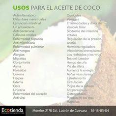 USOS Y BENEFICIOS DEL ACEITE DE COCO ORGÁNICO, EXTRA VIRGEN, EXTRAIDO EN FRIO