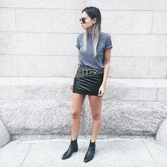 rock chick. Danielle in NYC. #WeWoreWhat