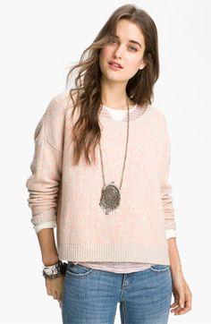 pastel leopard print sweater