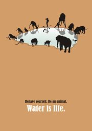 'water is life' poster competition