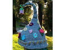 Crochet Magic Fairy Elf Hat - Flower Garden