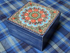 IDEAL GIFT !!! wooden container for tea , wooden tea box  ethno , retro , folk decoupage