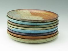 Pottery Dinner Plate MADE TO ORDER Singles, Stoneware 10 inch Coupe Main Entrée Plate, Wheel Thrown Ceramic Platter Your Color Choice