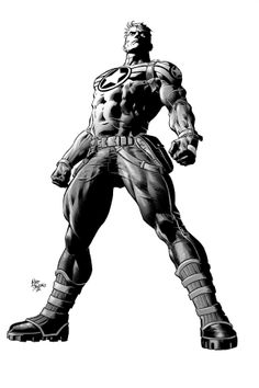 Super Soldier Captain America ~pencils by Mike Deodato Jr.