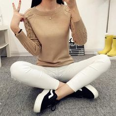 Knitted long sleeve sweater - Eshop Tiger