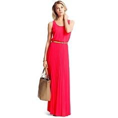 pleated maxi—perfect with a gold skinny belt