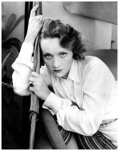 Marlene Dietrich photographed by Edward Steichen in Hollywood, 1931.