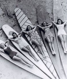 Girls on Surfboards.