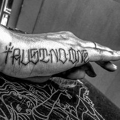 Image result for trust no one hand tattoo