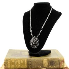 Vintage Mid Century Necklace- Vintage Silver Necklace- Vintage Necklace-Silvertone Necklace- Gift for her