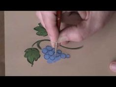 Bauernmalerei grapes - Decorative Painting Instructional Folk Art Video - YouTube
