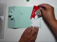 Stampin' Up!, Snow Flake Flip Card video tips tutorial - Jackie Topa Flip Cards, Pop Up Cards, Folded Cards, Diy Christmas Cards, Xmas Cards, Holiday Cards, Winter Christmas, Card Making Tutorials, Card Making Techniques