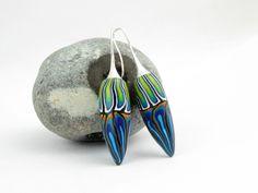Ohrhänger - Künstler Ohrringe Polymer Clay Design Fimo Perlen  - ein Designerstück von filigran-Design bei DaWanda