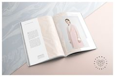 LUCIE Magazine + Marble Texture by Paperwhite Studio on @creativemarket