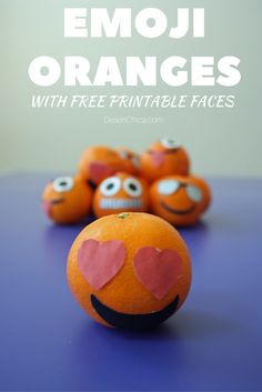 Add a little fun to your kiddo's school lunch with an emoji orange! Fun, healthy, and easy to peel, they are a perfect addition to the lunchbox. Plus they are easy to make with free printable faces!