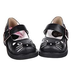 lolita shoes- Online Shopping for lolita shoes- Retail lolita shoes from LightInTheBox - Page 5 Cat Shoes, Shoes Heels, Leather Flats, Pu Leather, Kawaii Shoes, Kawaii Clothes, Loli Kawaii, Lolita Shoes, Catio