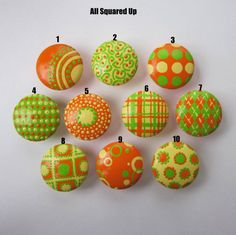 these hand painted drawer knobs are sooo cute!